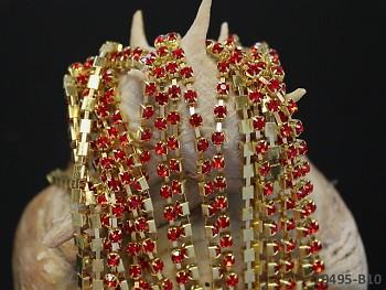 Borta s kamínky v kovovém lůžku ZLATÁ/červené