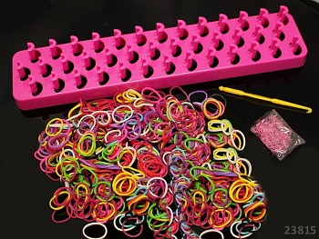 Loom bands gumičky k splétání SADA černá