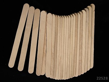 Dřevěné špachtle přírodní, bal. 24ks
