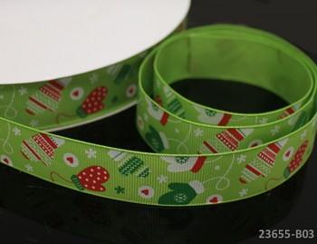 Vánoční stuha ZELENÁ / rukavičky 25mm, bal. 2m