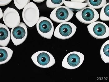 Dekorační oči BÍLÉ / modrá duhovka,  bal. 2ks