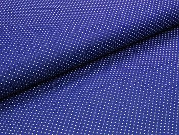 Puntíkovaná látka modrá jasná mikro, á 1m