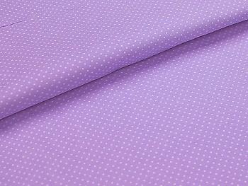 Puntíkovaná látka světle fialová mikro, á 1m