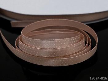 Stuha puntíky 6mm KRÉMOVÁ, svazek 5m