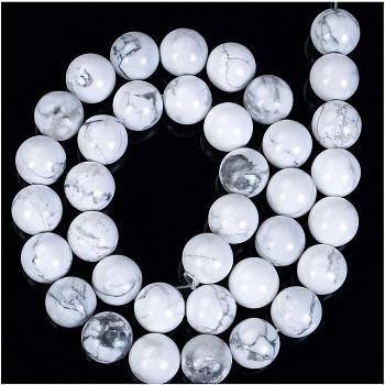 Přírodní minerál HOWLITE bílé kuličky 8mm, bal. 10ks