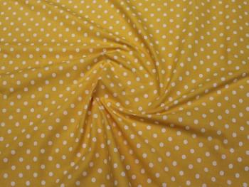Puntíkovaná látka jasně žlutá 06, á 1m