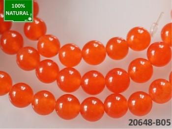 Přírodní JADEIT oranžový, kuličky Ø 6mm, bal. 10ks