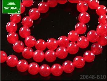 Přírodní JADEIT červený, kuličky Ø 6mm, bal. 10ks