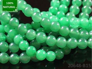 Přírodní JADEIT zelený, kuličky Ø 6mm, bal. 10ks