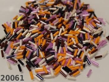 Skleněný rokajl trubičky 7/2mm MIX