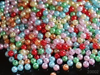 Pestrobarevný MIX korálky  voskovky kuličky  4mm bal. 2g tj. cca 70ks