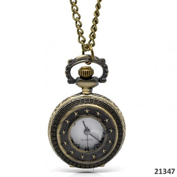 Vintage hodinky cibulky - medailon, s řetízkem 82cm