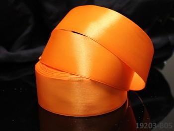 Oranžová stuha atlasová 38mm saténová stužka oranžová