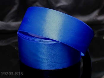 Modrá kobaltová stuha atlasová 38mm saténová stužka modrá nivea