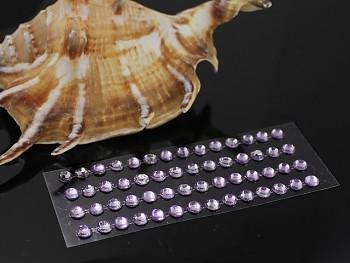FIALOVÉ světle  samolepící kamínky 5mm