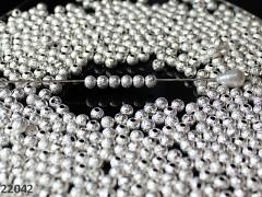 Korálky kovové frost STŘÍBRNÉ 6mm, bal. 10ks