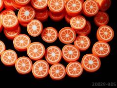 FIMO korálky ovoce - pomeranče ORANŽOVÉ, bal. 2ks