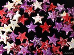 Korálky akrylové velké melírované hvězdy MIX, bal. 5ks