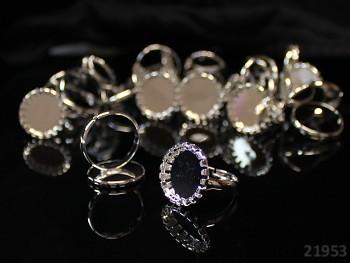 Základ pro prsten 18/17 ozdob. lůžko L=15 stříbrný