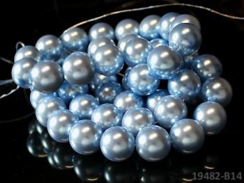 Voskované perly Ø 16mm SVĚTLE MODRÉ