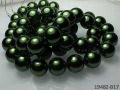 Voskované perly Ø 16mm TMAVĚ ZELENÉ