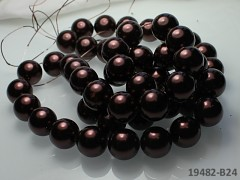 Voskované perly Ø 16mm HNĚDÉ
