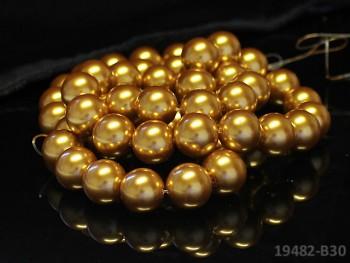 Voskované perly Ø 16mm ZLATÉ