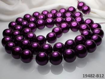 Voskované perly Ø 16mm TMAVĚ FIALOVÉ