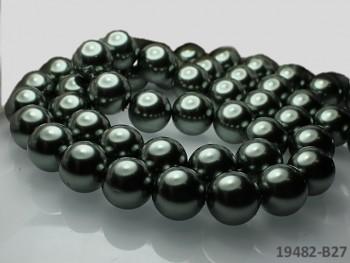 Voskované perly Ø 16mm ŠEDOKHAKI