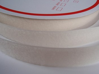 Suchý zip šíře 20mm smetanový KOMPLET