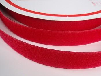 Suchý zip šíře 20mm červený KOMPLET