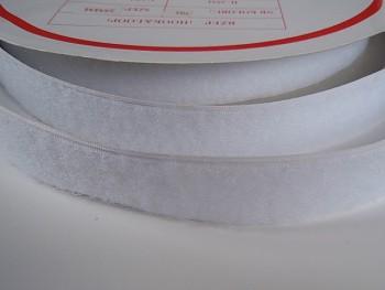 Suchý zip šíře 25mm bílý KOMPLET