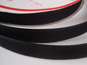 Suchý zip šíře 25mm černý KOMPLET