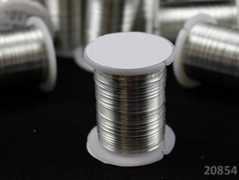 Bižu drátek STŘBRNÝ 0.3mm, cívka 10m