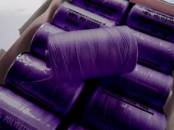 Nitě PES 1000y HARD fialové tmavě