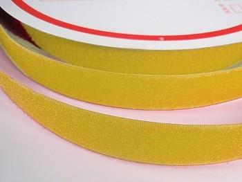 Suchý zip šíře 20mm žlutý KOMPLET