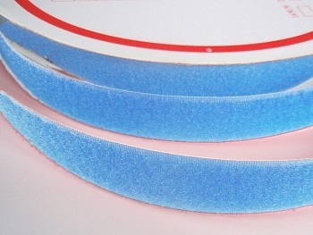 Suchý zip šíře 20mm světle modrý KOMPLET