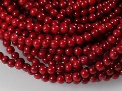 Přírodní KORÁL červený, kuličky Ø 4mm, bal. 10ks
