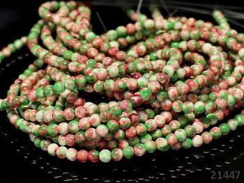 Přírodní JADEIT zelenooranž, kuličky Ø 4mm, bal. 10ks