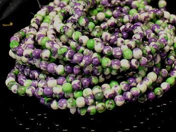 Přírodní JADEIT zelenofialové, kuličky Ø 4mm, bal. 10ks