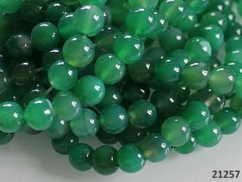 Přírodní ACHÁT zelený, kuličky Ø 10mm, bal. 5ks