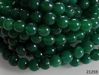 Přírodní ACHÁT žlutý, tmavě zelený, kuličky Ø 10mm, bal. 5ks
