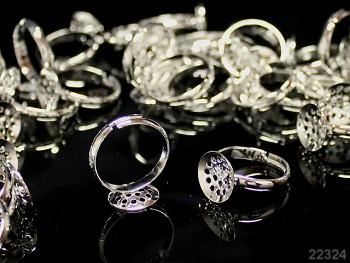 Základ pro prsten 17/12 prošívací  L=12,  stříbrný
