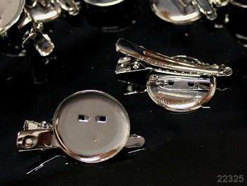 Brožový můstek + spona button 38/23 platina, á 1ks