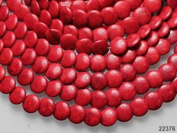Přírodní minerál HOWLITE lentilky 14/5, bal. 10ks