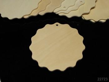 Přívěšek dřevěný k kytička 90/90, á 1ks