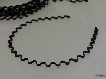 Vlasová čelenka 4mm vlnka černá, á 1ks