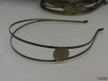 Vlasová čelenka 24mm bronzová s lůžkem, á 1ks