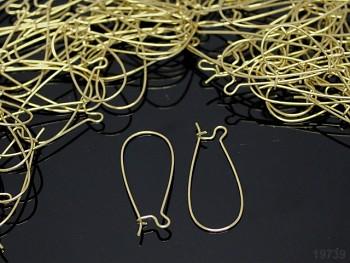Náušnicové kroužky - háčky 33/14 zlaté, bal. 20ks