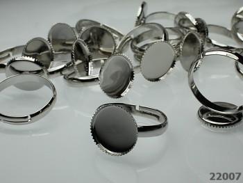 Základ pro prsten 18mm ozub. lůžko L=12 platina